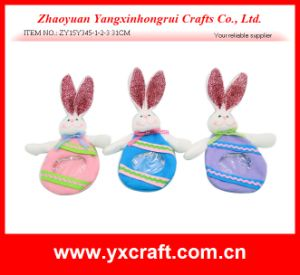 Easter Decoration (ZY15Y345-1-2-3) Easter Candy Bag Cute Bunny Plush Toys pictures & photos