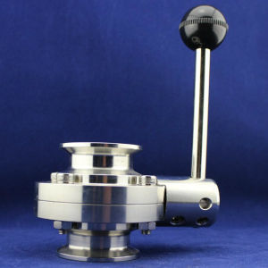 "3/4"" Stainless Steel Ss304 EPDM Seat Triclamp Butterfly Valve pictures & photos"