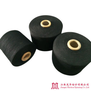 Recycled Black Cotton Polyester Yarn (21-32s)