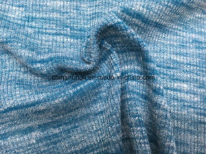 High Quality 2*2 Rib P/R/Sp 78/19/3, 175GSM, Melange Knitting Fabric for Lady′s Garment pictures & photos