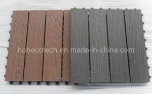 Embossing Surface DIY Tiles Internal/External Flooring 300x300mm WPC Bathroom Tile Wood Plastic Composite Tile pictures & photos