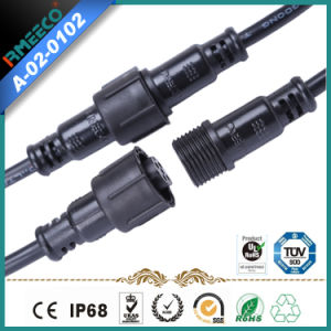 M 18 Circular Waterproof Cable Connector Assembly 5pins Black Color