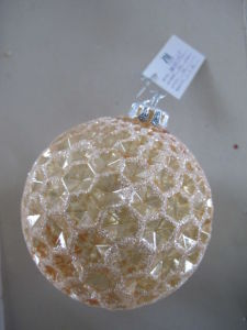 10cm Hanging Christmas Glass Ball for Decoration pictures & photos