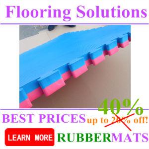 Two Layer EVA Interlock Flooring Mat for Indoor Court pictures & photos