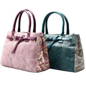 Snake Skin Handbag with Belt and Printed Side, Ladies Tote Bag / Shoulder Bag Medium Size Cc42-094