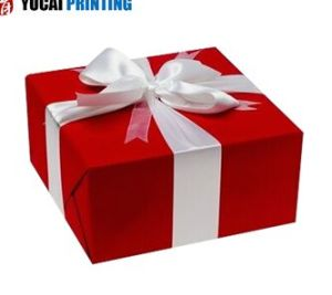 Red Square Paper Gift Box pictures & photos
