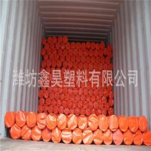 100% Raw Material Orange and Blue Waterproof PE Tarpaulin pictures & photos