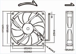12V 24V 48V 120mm 12cmx12cm DC Fan 120X120X25mm Cooling Fan pictures & photos