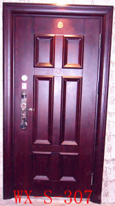 High Quality Steel Security Door (WX-S-105) pictures & photos