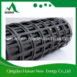 Professional Reinforcing High Quality 40-40kn/M Steel Plastic Geogrid with Ce Certification pictures & photos