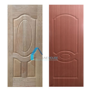 Ash and Sapeli Wood Veneered Molded Plywood Door Skin pictures & photos