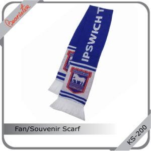 Customed Hot Sport Souvenir Scarf /Acrylic Soccer Scarf / Football Scarf