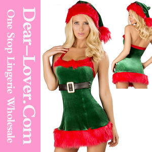 Sexy Lady Adult Santa Christmas Costume pictures & photos