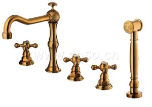 Brass Shower Set with Bathtub Faucet Nk1050 pictures & photos