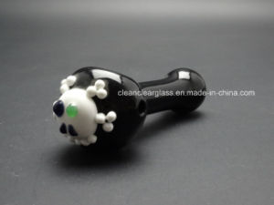 Factory Wholesale Skull Head Glass Pipe Hand Pipe Smoking Pipe 12cm pictures & photos