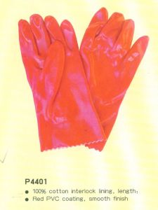 PVC Coating Gloves with CE P4401 pictures & photos