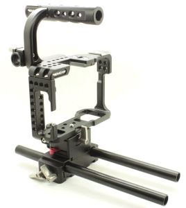 Movcam DSLR Baseplate Cage with Top Handle for Sony A7s Camera Film