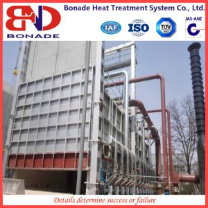 Large Natural Gas Car Type Furnace for Large Workpiece Annealing-Trolley Furnace pictures & photos
