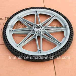 9X1.75 10X2 12X2.125 16X1.75 20X1.75 20X2 Flat Free Tire with Plastic Wheel pictures & photos