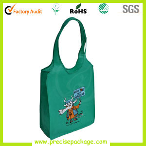 Round Handle OEM Reusable Cheap Nonwoven Green Bag