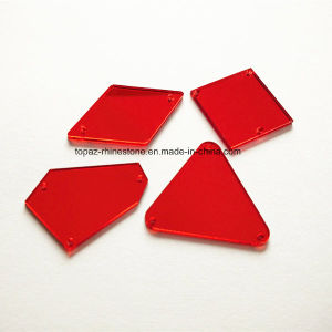 Decorative acrylic Mirror Stone Siam Red Rhinestone for Garment and Bridal Shoes (SW-red mirror) pictures & photos