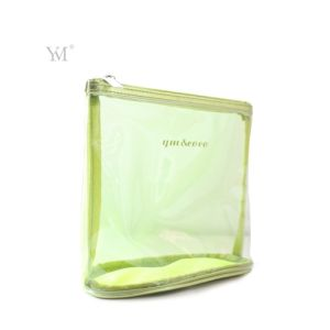 High Quality Wholesale Fashion Travel Custom Clear PVC Mesh Cosmetic Toiletry Makeup Woman Set Bag pictures & photos
