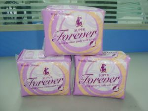 Kenya Forever Normal Comfortable Soft Sanitary Napkin Pad with Wings pictures & photos