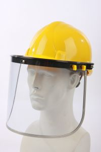 Wide Field Face Shield with Hard Hat Protection Sets pictures & photos