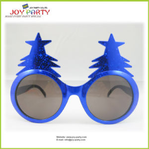 Classic Blue Christmas Tree Party Glasses