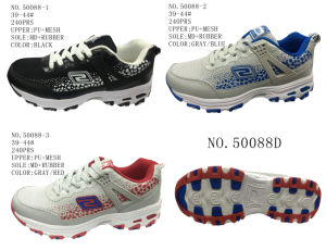 No. 50088 Men Sport Stock Shoes Mesh Upper pictures & photos