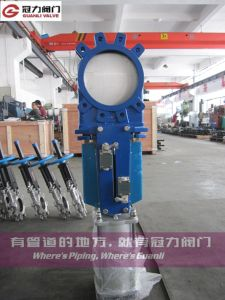 JIS10k Water Treatment Pulp Knife Gate Valve pictures & photos