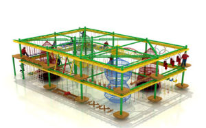Children Indoor Rope Course Park for Indoor Playground Amusement Park Equipment pictures & photos