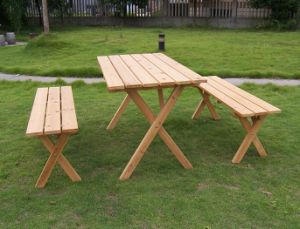 Wood Garden Furniture Foldble Table Sets Outdoor Dining Set pictures & photos