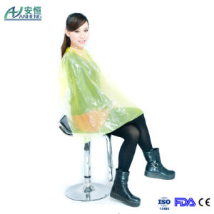 Good Quality Polyethylene Hairdresser Cape pictures & photos
