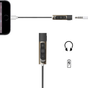8 Pin Lightning to 3.5mm Adapter with Volume Control for iPhone 7 pictures & photos