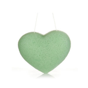 Green Face Care Konjac Sponge with Natural Pigments