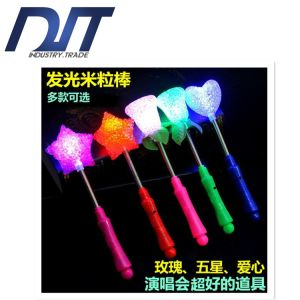Rice Light Flash Glowing Roses Stars Shaking Sticks for Concert