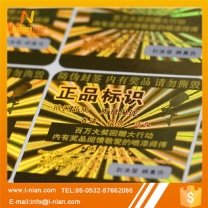 Custom Printing Holographic Sticker Label pictures & photos