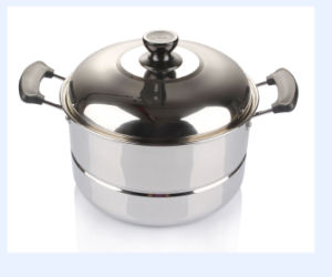 24cm Stainless Steel Steam Pot with Lids pictures & photos