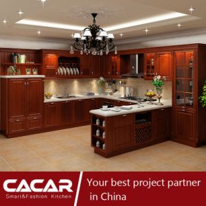 Venice Classical Modern Solid Wood Spray Lacquer Kitchen Cabinet (CA15-06) pictures & photos