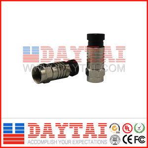 F Type CATV Connector RG6/Rg59 Compression Connector pictures & photos
