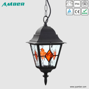 E27 100W Outdoor Pendant Gaden Light with Printing Glass pictures & photos