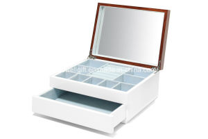 Aura Lacquer 1-Drawer Jewelry Box, Walnut pictures & photos