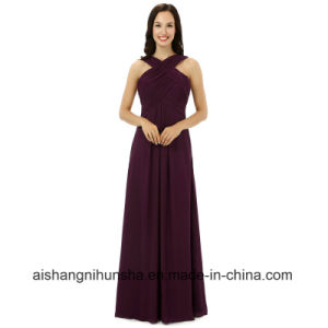Women Chiffon Sleeveless Bridesmaids Dresses Wedding Party Dress pictures & photos