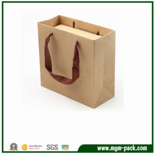 Luxury Custom Printed Kraft Paper Shopping Packaging Carrier Gift Paper Bag for Packing with Handles pictures & photos