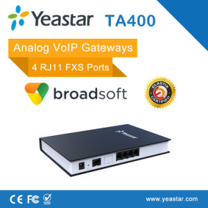Connecting Legacy Telephones, Fax Machine and PBX System with 4 Rj11 FXS VoIP Gateway pictures & photos