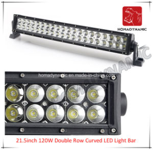 LED Car Light of 21.5inch 120W Double Row Curved LED Light Bar Waterproof for SUV Car LED off Road Light and LED Driving Light pictures & photos