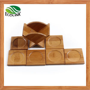 6PCS Bamboo Coaster Set Tea Cup Mat pictures & photos