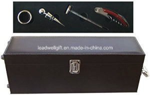 4-Piece Single Bottle Faux Leather Wine Gift Box / Wine Set pictures & photos