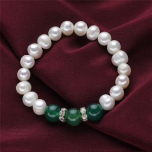 Snh Button Shape Nice Real Freshwater Pearl Jewelry Set pictures & photos